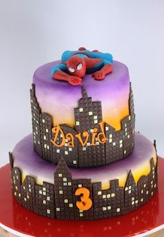 bolo decorado com prédios