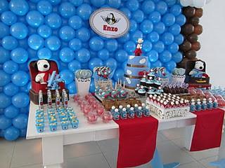 Resultado de imagem para decoração festa aniversario snoopy