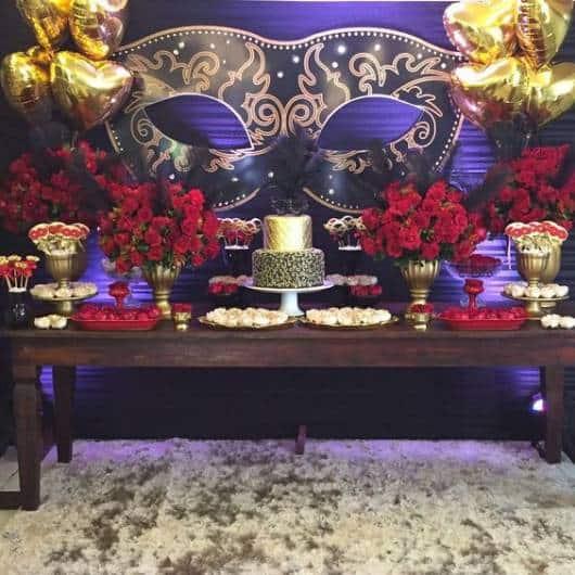 balões dourados decoração