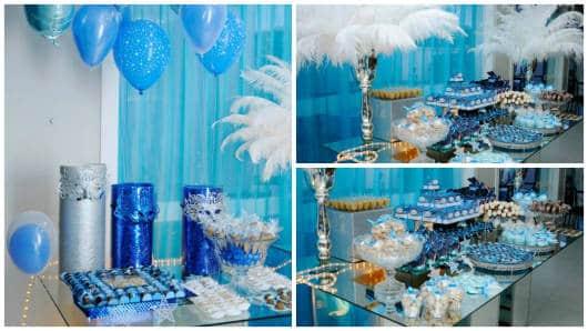 festa 15 anos azul