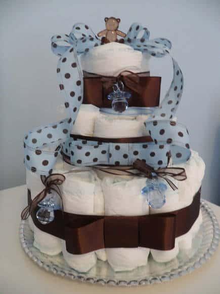 decoração azul e marrom