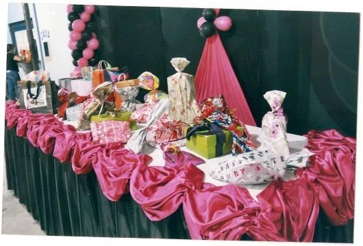 mesa de presentes