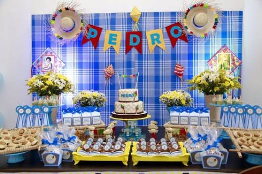 decoração azul