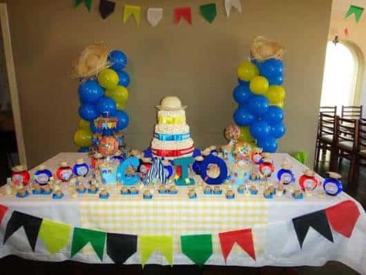 decoracao festa xadrez:Chá de bebê junino/ caipira: tudo para organizar a festa!