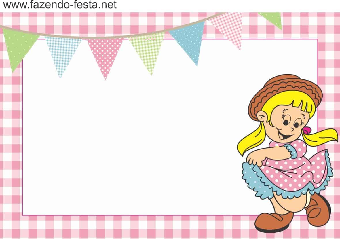 modelo de convite menina