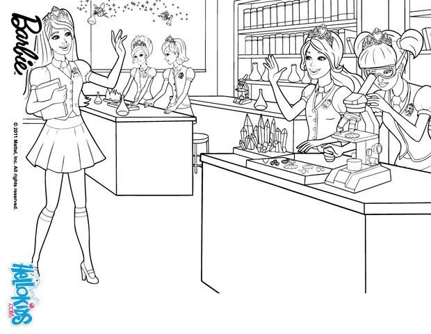 barbie laboratório
