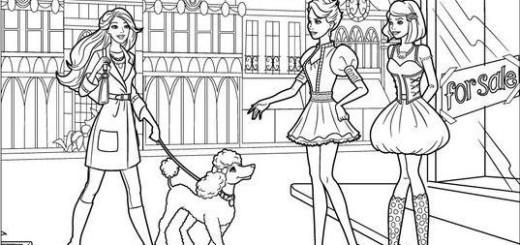 barbie passeando cachorro