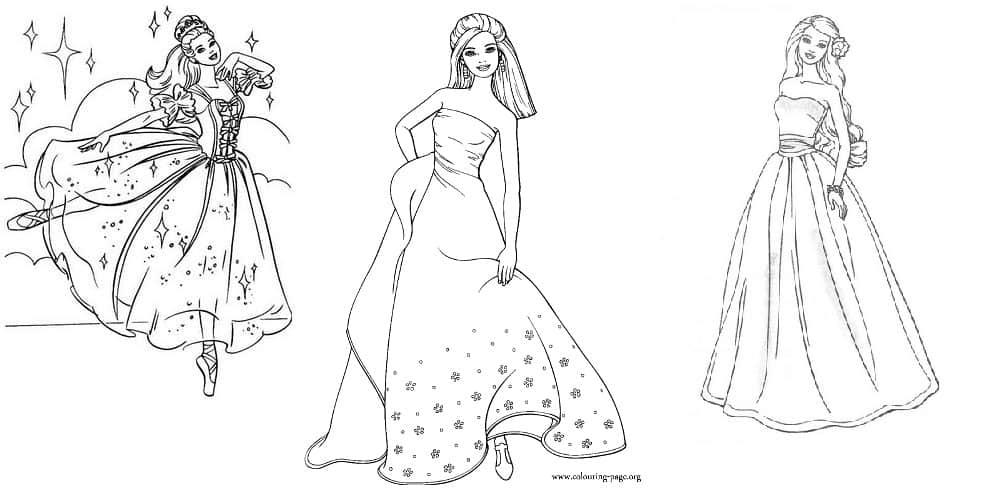 desenhos para pintar barbie