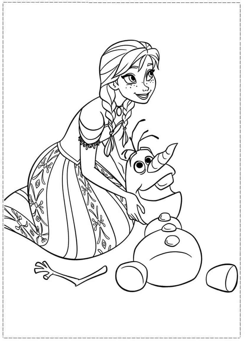 Desenhos Para Colorir Frozen 55 Modelos Para Imprimir