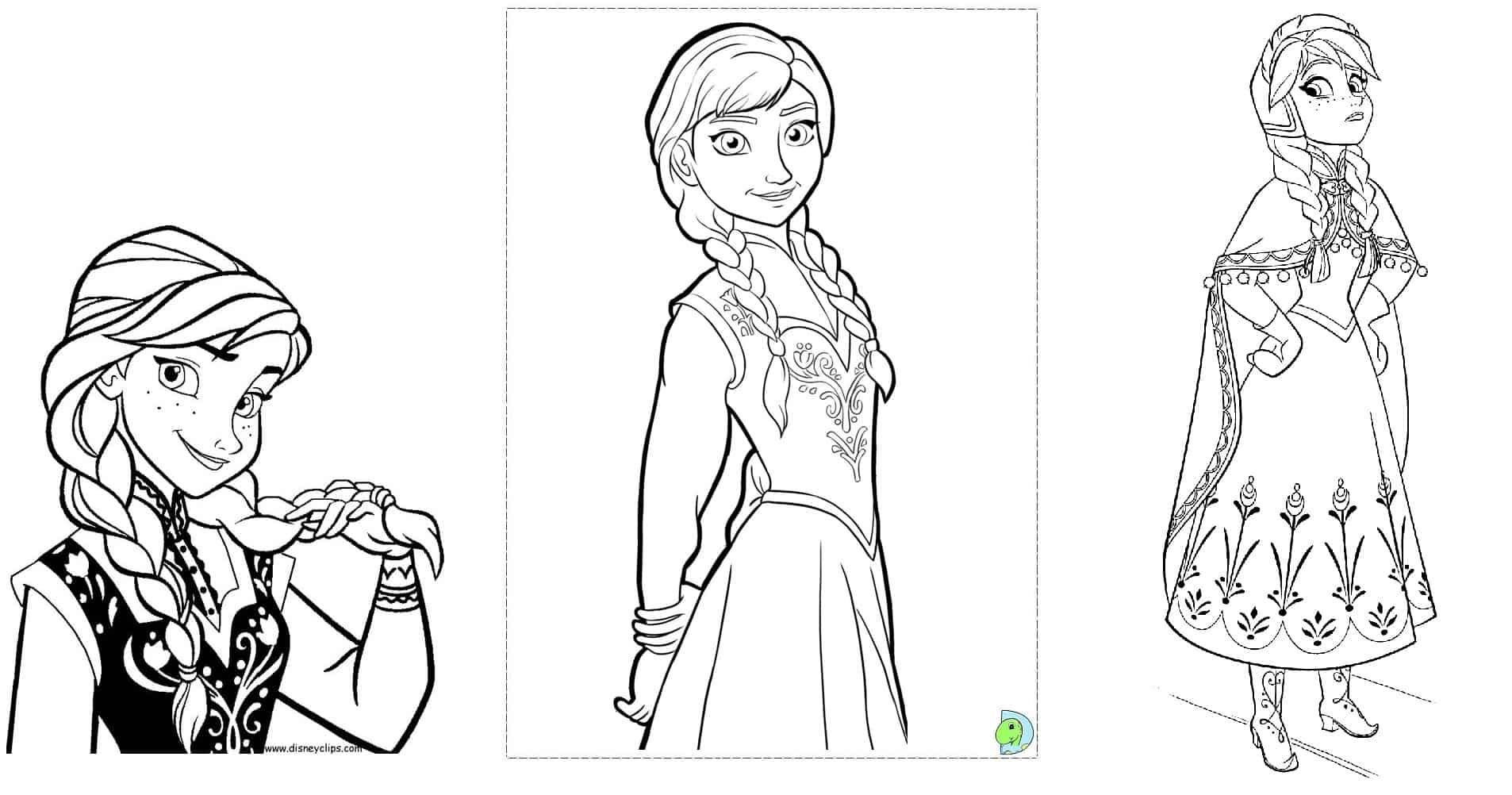Desenhos Para Colorir Frozen: 55 Modelos Para Imprimir
