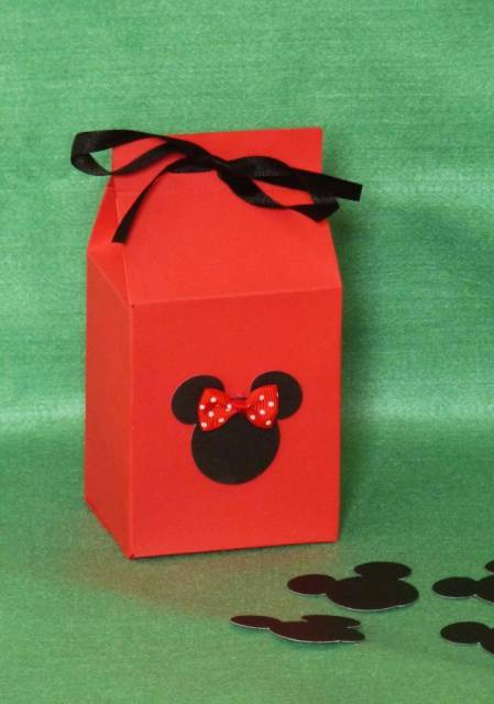 caixa de leite decorada minnie