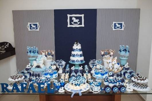 decoração azul marino