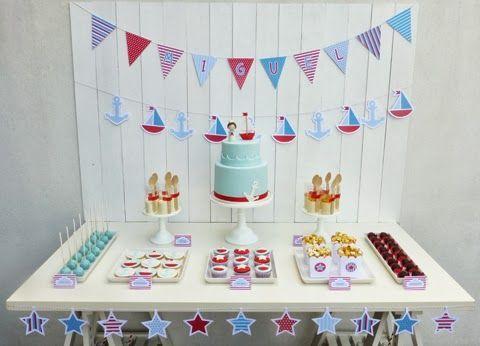 decoração simples marinheiro