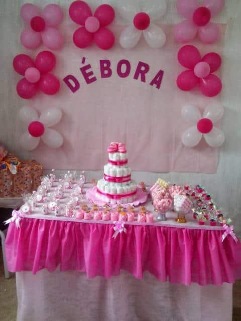 decoração rosa simples