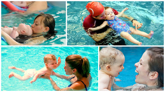 criança natação