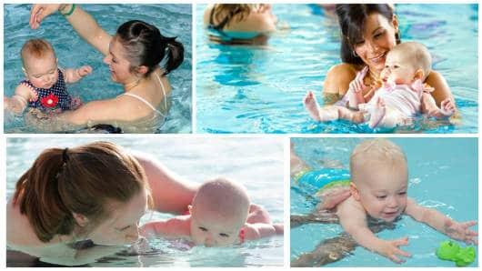 bebê na água
