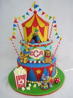 fotos de bolo circo
