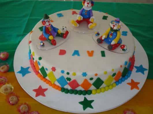 bolo circo com pasta americana