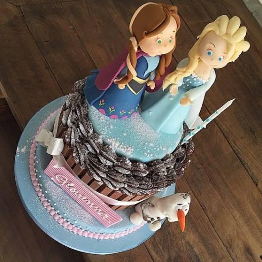 Topo com Elsa e Anna