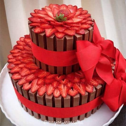 Cake Decorating Company Massa : Bolo Kit Kat: 60 modelos lindos e como fazer!