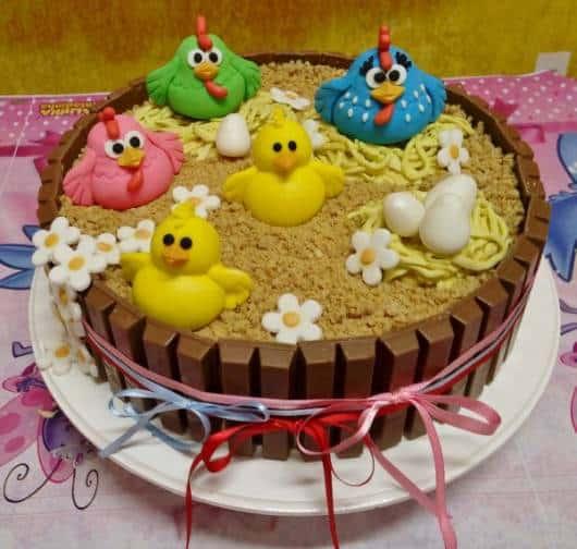 Decoração bolo pequeno