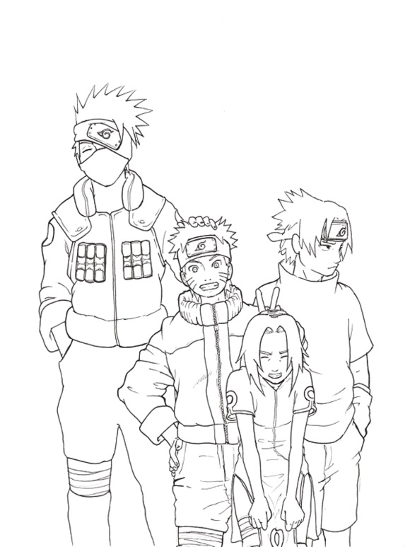personagens para pintar mangá