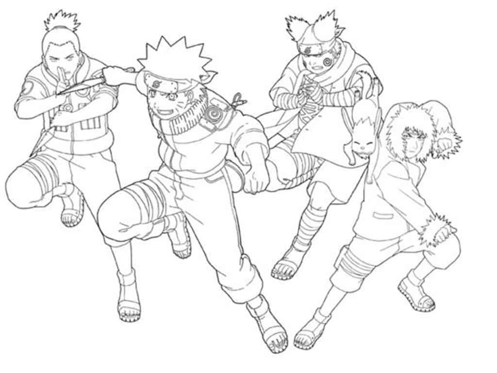 Desenhos Para Colorir Do Naruto 40 Opções Para Imprimir