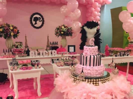 como fazer uma festa barbie paris