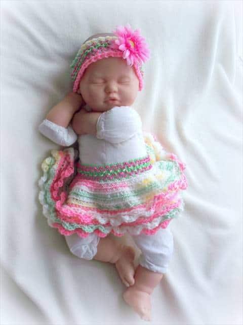 modelo de babados bebê