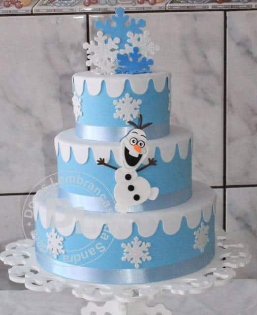 decoração com flocos de neve