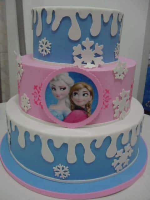 bolo rosa e azul EVA