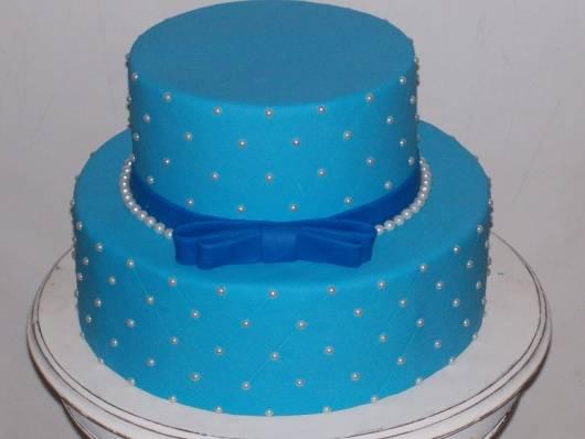 azul com pérolas