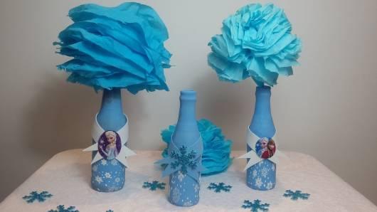 decoração garrafas