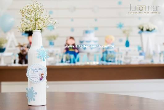 garrafa decorada branca