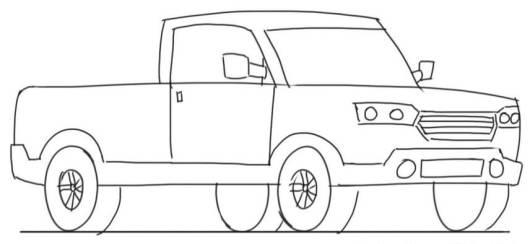caminhão em desenhos de carros para colorir