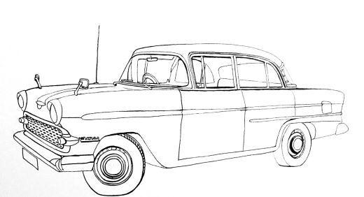 clássicos em desenhos de carros para colorir