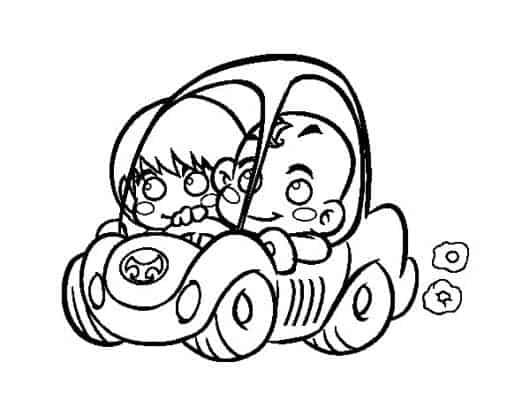desenhos de carros para colorir com bebês
