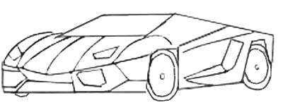 desenhos de carros para colorir de passeio