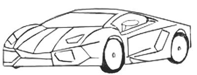 desenhos de carros para colorir rápido