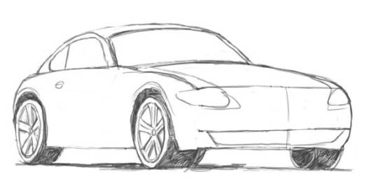 desenhos de carros para colorir simples
