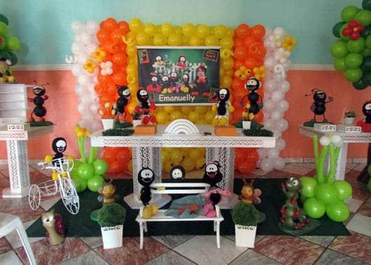 decoração festa Smilinguido