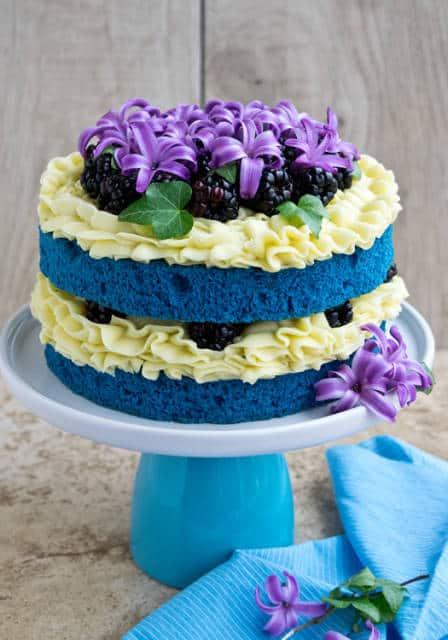 naked cake infantil azul