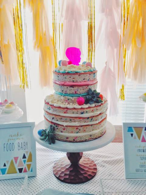 naked cake infantil passo a passo