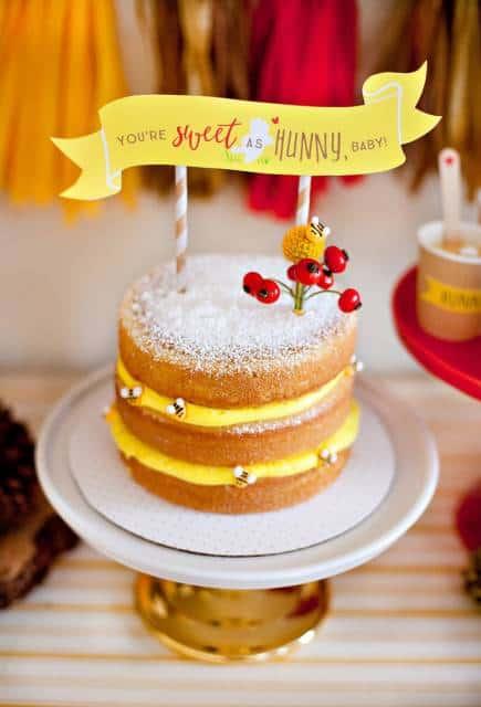 naked cake infantil joaninhas