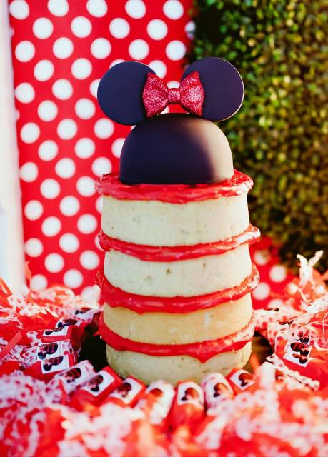naked cake infantil da minnie