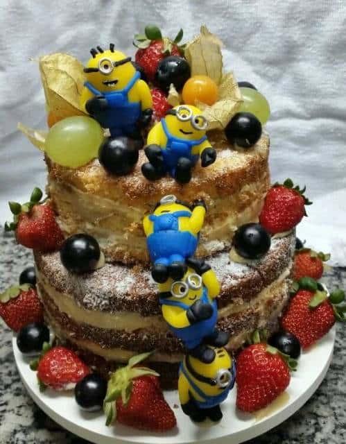 naked cake infantil festa minion