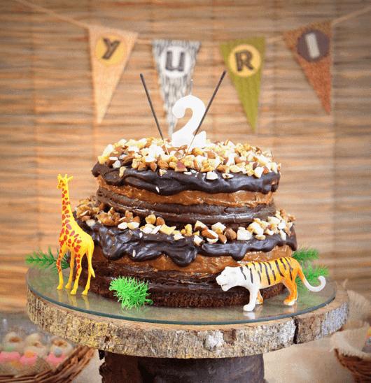 naked cake infantil festa safari