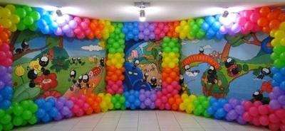 painel com balões festa Smilinguido