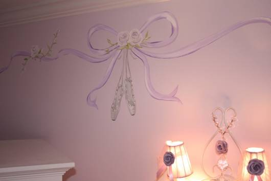 parede de quarto de bailarina