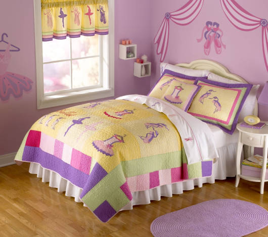 quarto de bailarina colorido